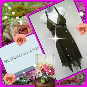 BCBGMaxAzria Embellished Silk Halter Dress 12 🌹🌹